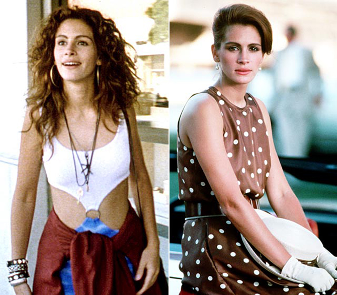 Pretty Woman, film, Julia Roberts, ubrania