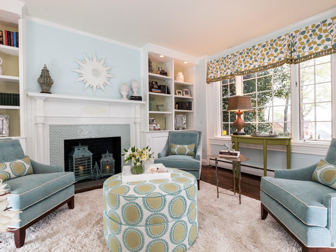 Traditional Sitting Room Creams And Greens