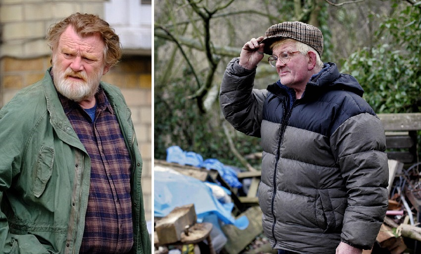 Brendan Gleeson jako Donald i jego pierwowzór Harry Hollowes