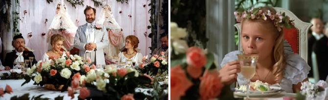 Fanny i Aleksander, przyjęcie, film