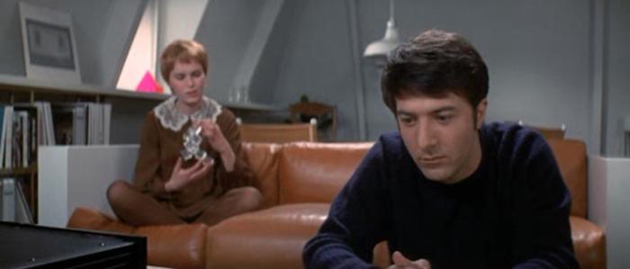 John i Mary, wnętrza minimalistyczne, film