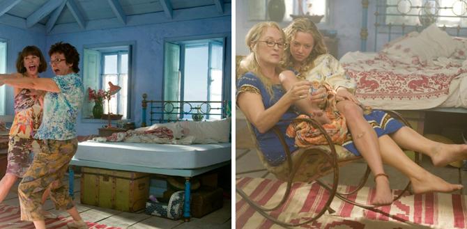 Mamma Mia, film, sypialnia