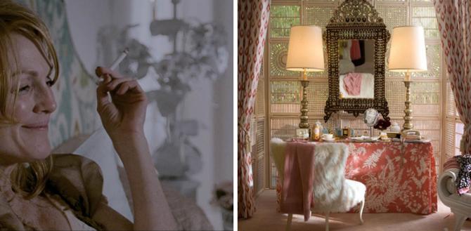 Single Man, sypialnia, film