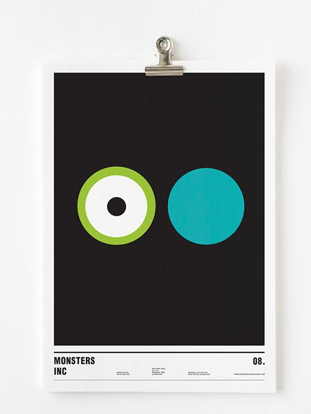 Nick Barclay, plakat filmowy, potwory i spółka