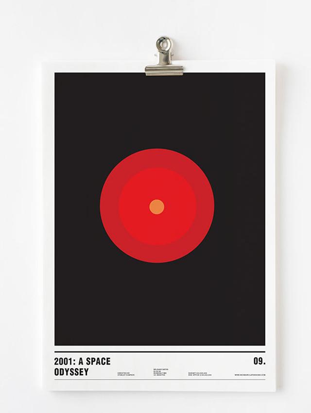 Nick Barclay, plakat filmowy, 2001: Odyseja kosmiczna