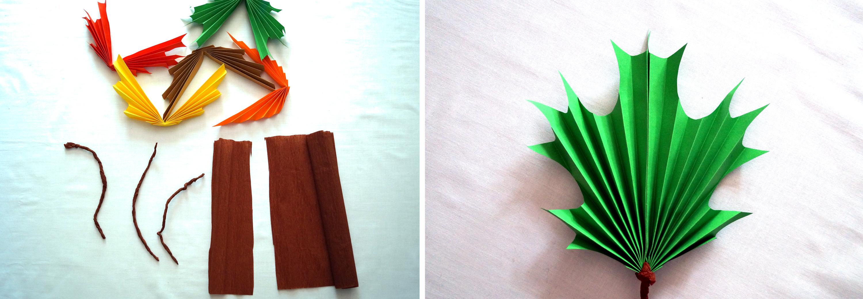 diy: Jesienne liście z papieru