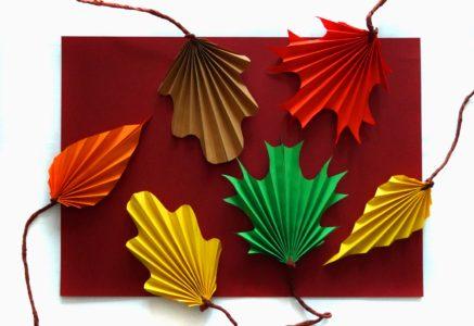 Jesienne liście z papieru