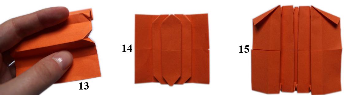 Dekoracje na jesień z papieru - dynia origami