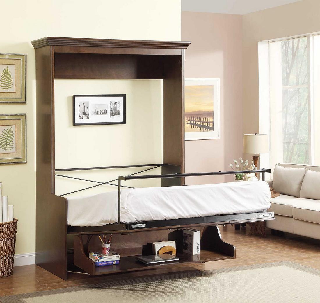 Łóżko chowane w szafie