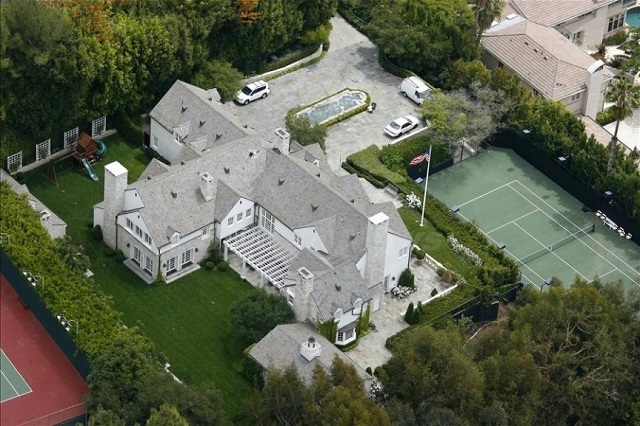 Domy gwiazd Hollywood w Beverly Hills