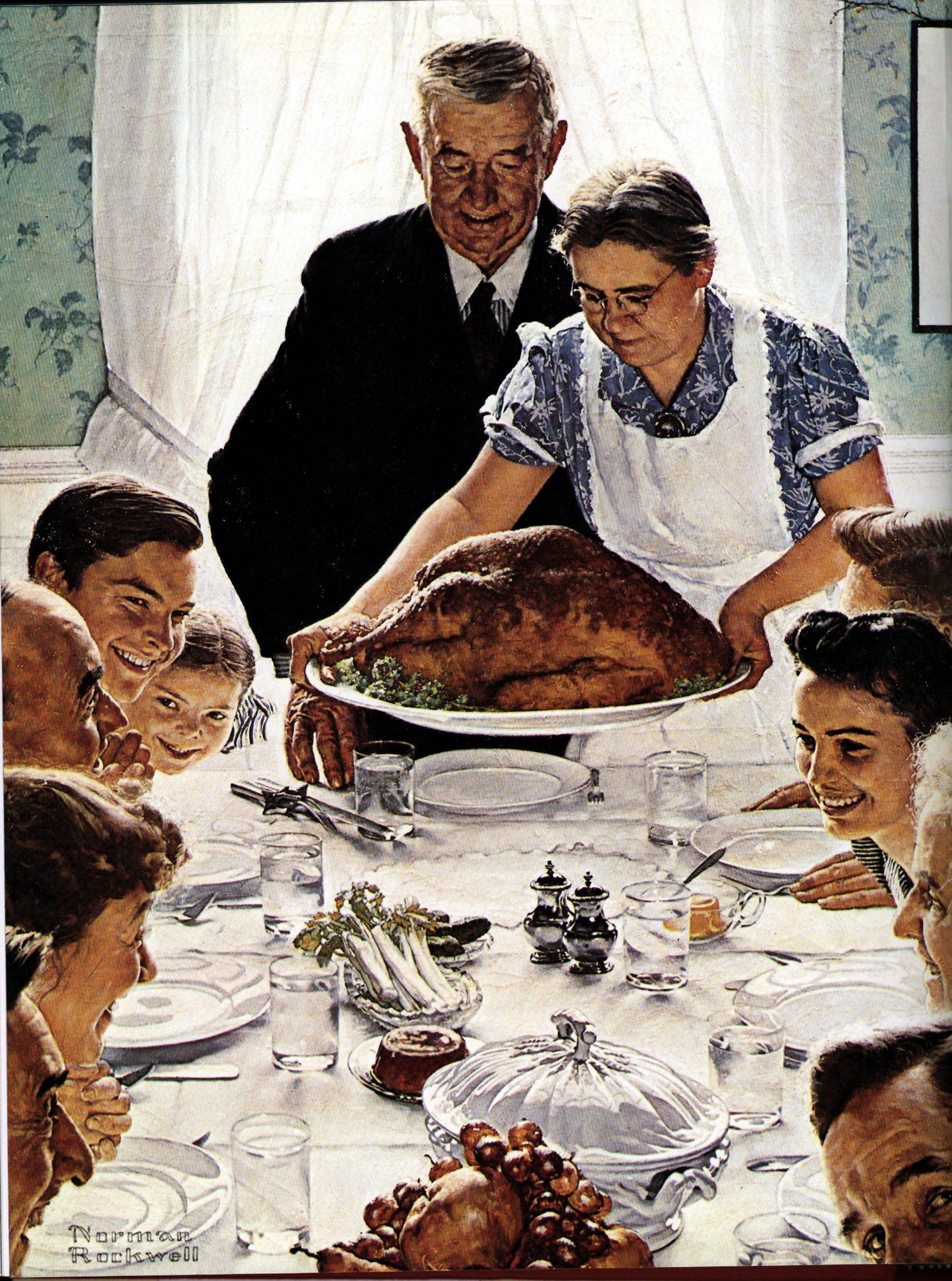 Norma Rockwell Dzień Dziękczynienia