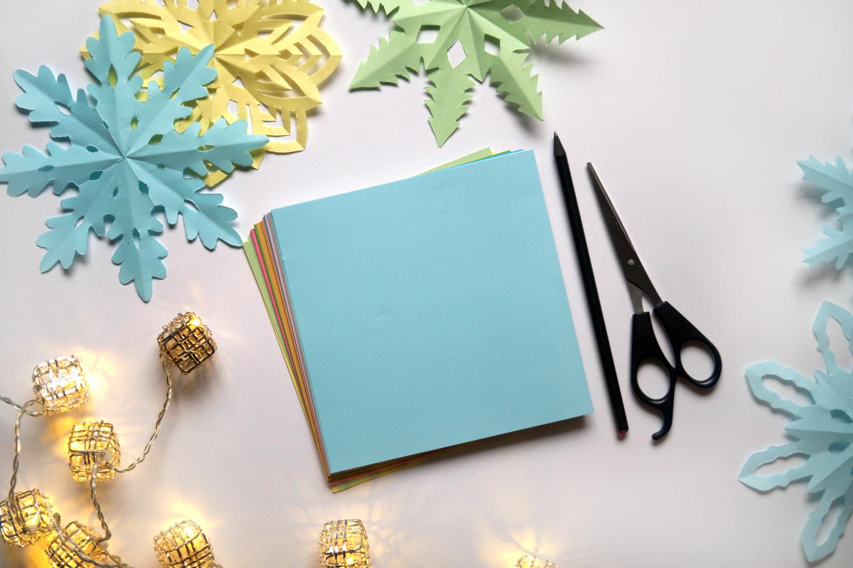Gwiazdki z papieru, dekoracje świąteczne