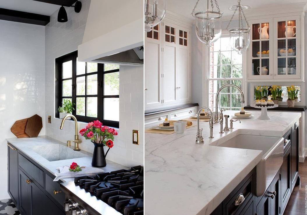 Marmurowe blaty kuchenne