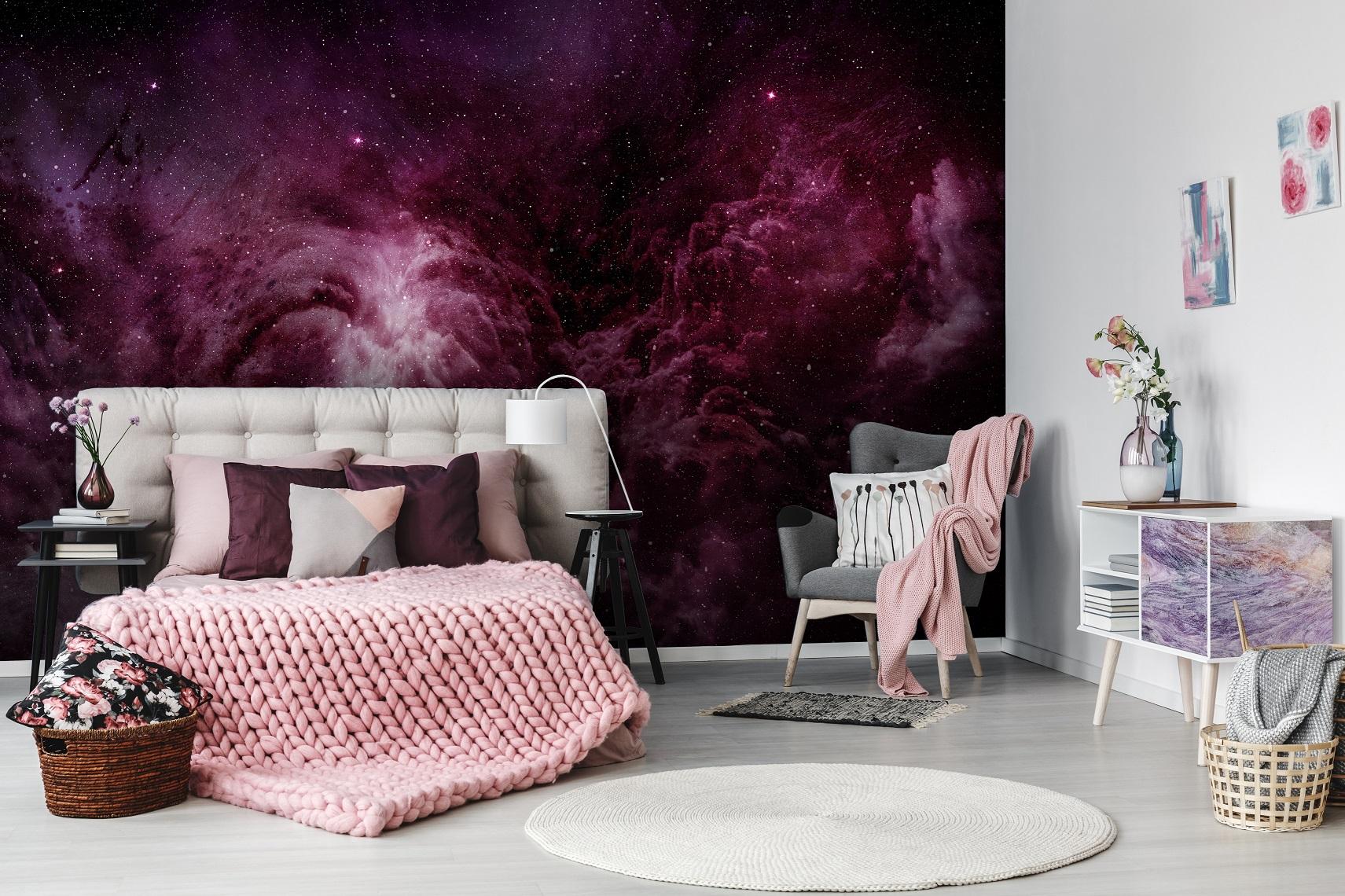 Fioletowy kolor we wnętrzach