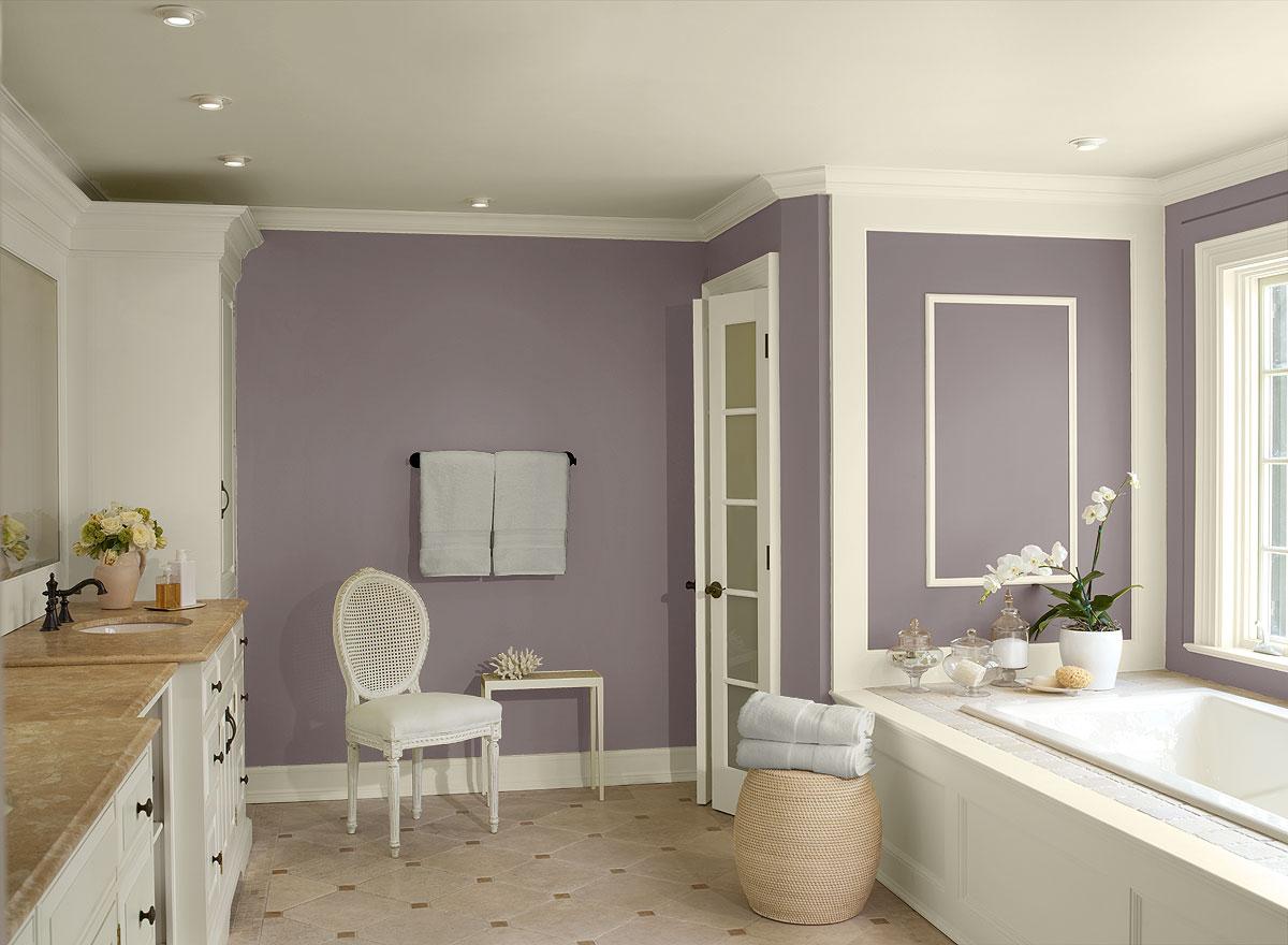 Kolor fioletowy we wnętrzach