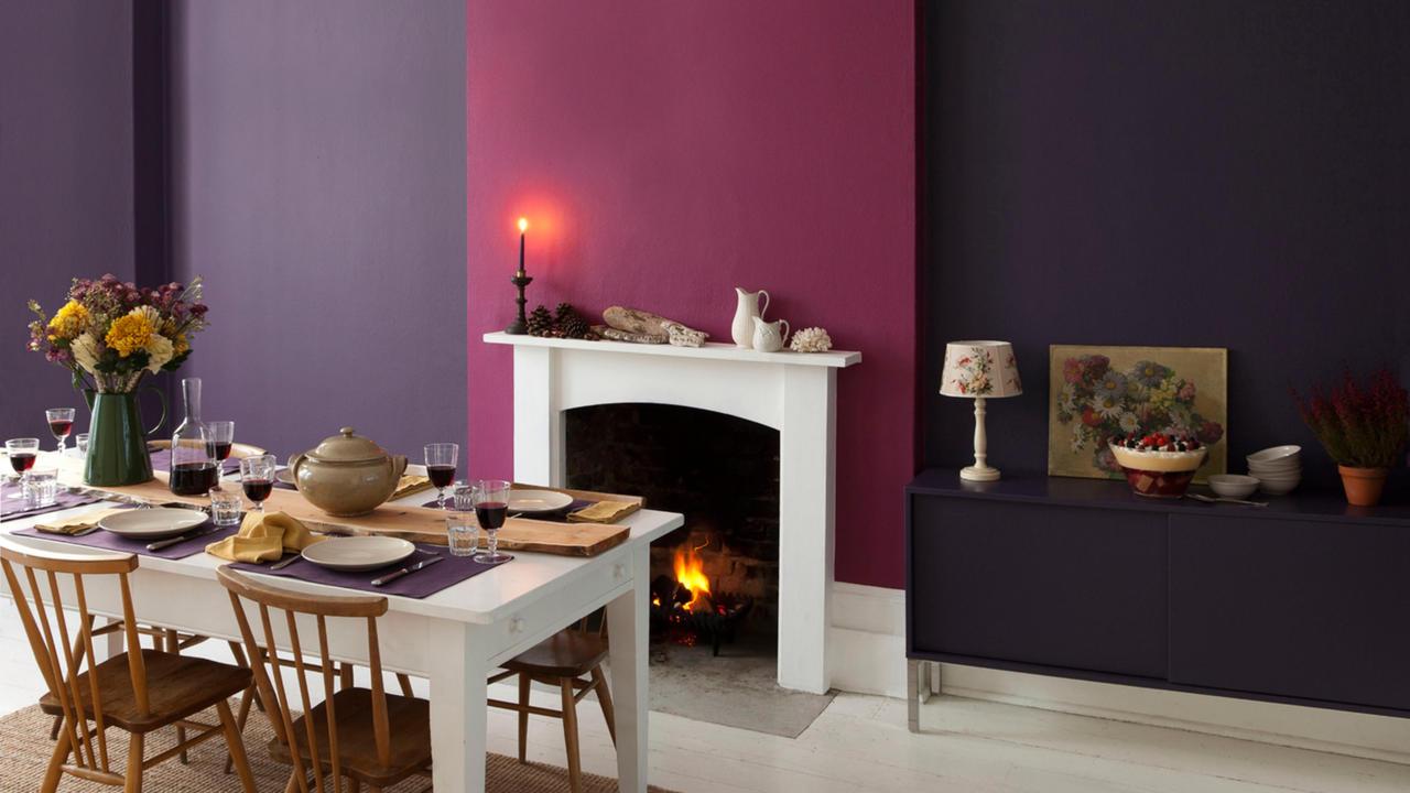 Jaki kolor pasuje do fioletu we wnętrzach?