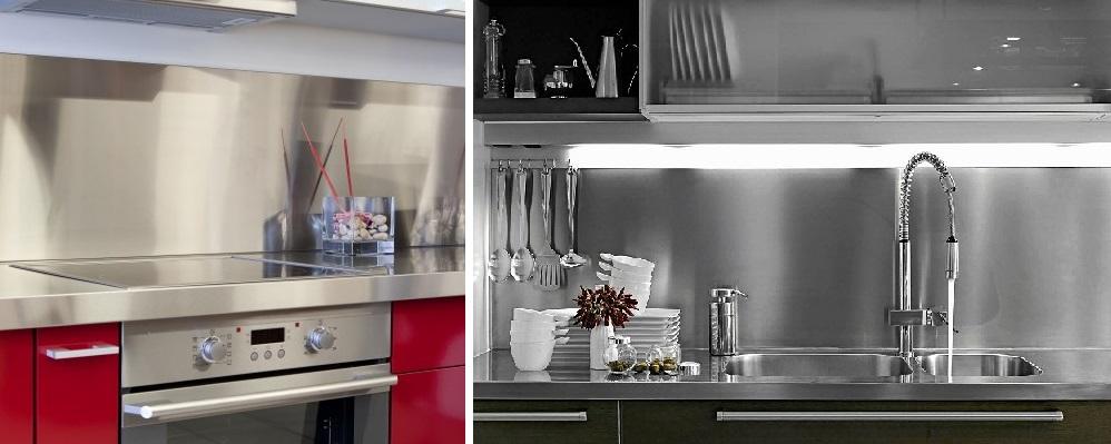 Wykończenie ściany w kuchni między szafkami