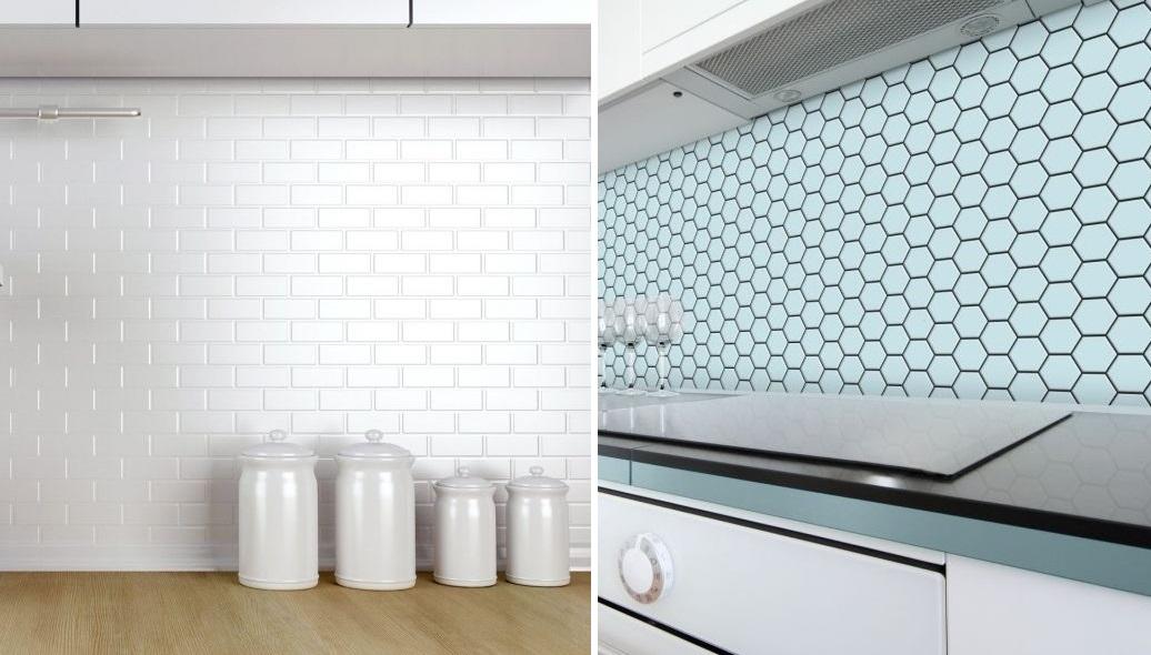 Ściana nad blatem w kuchni - mozaika