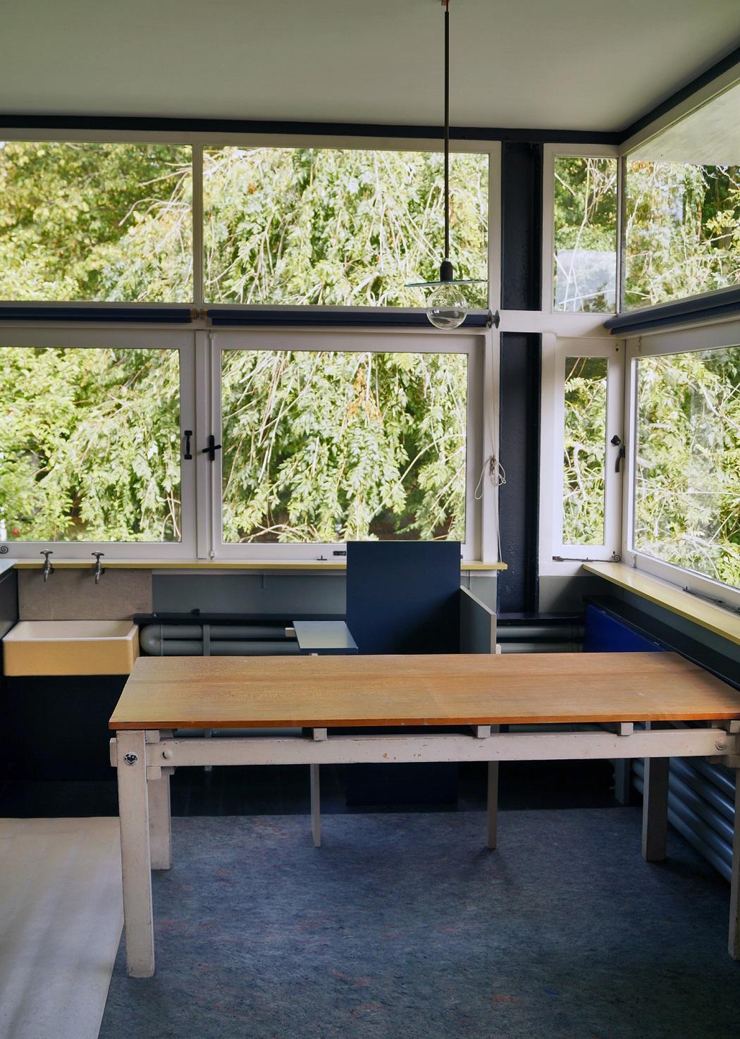 Dom Rietvelda w Utrechcie - okno narożne