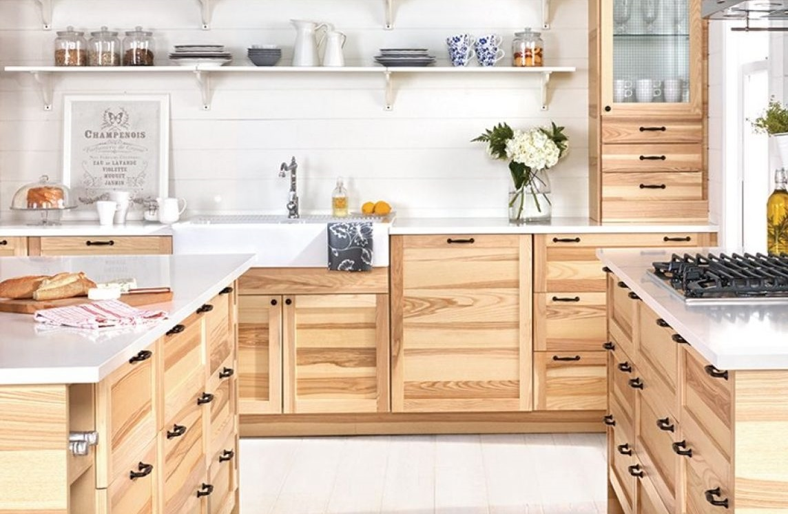 Kuchnia naturalne drewniane szafki