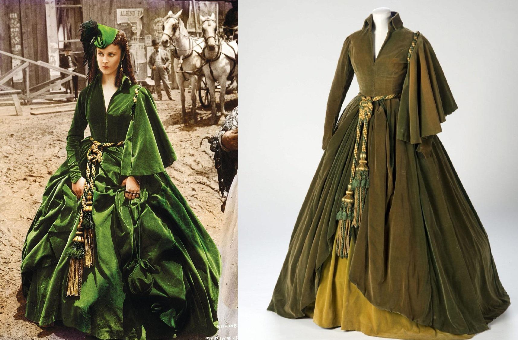 Zielona sukienka - przeminęło z wiatrem