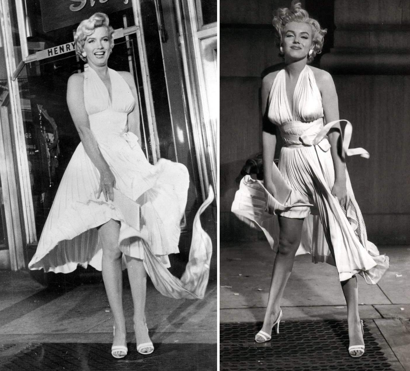 Słomiany wdowiec sukienka Marylin Monroe