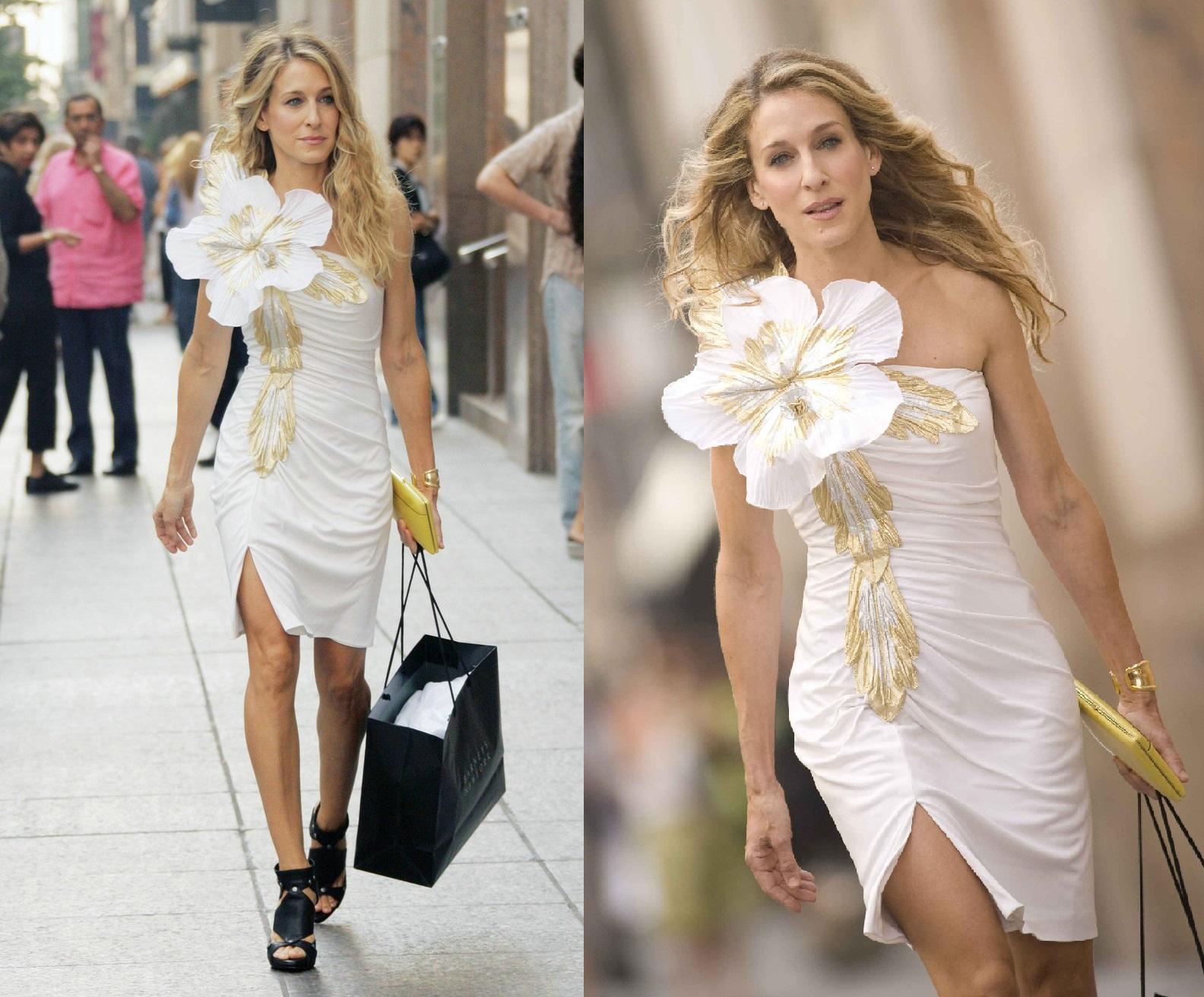 Seks w wielkim mieście - biała sukienka