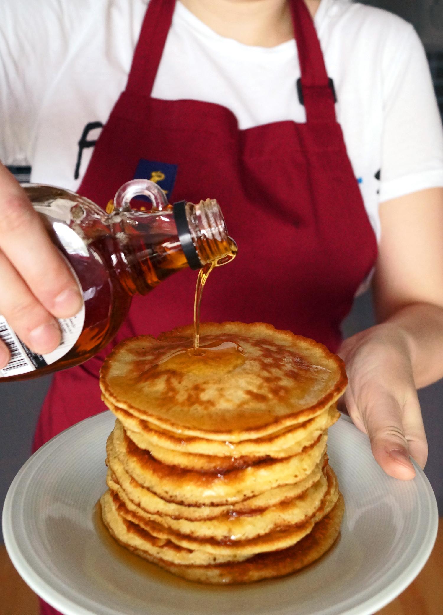Pancakes - amerykańskie puszyste naleśniki przepis