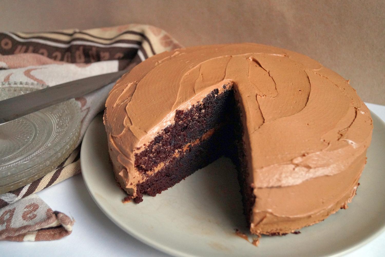 Proste ciasto czekoladowe z kremem