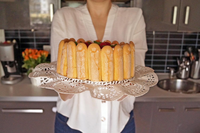 Francuskie ciasto malinowe Charlotte