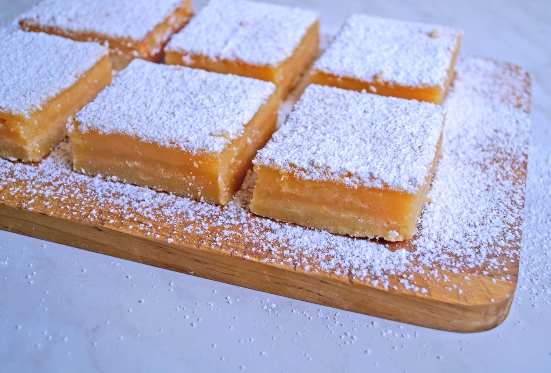 Cytrynowe kwadraciki przepis na ciasto