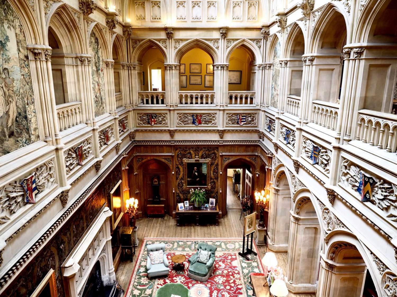 Zamek Downton Abbey - serial wnętrza