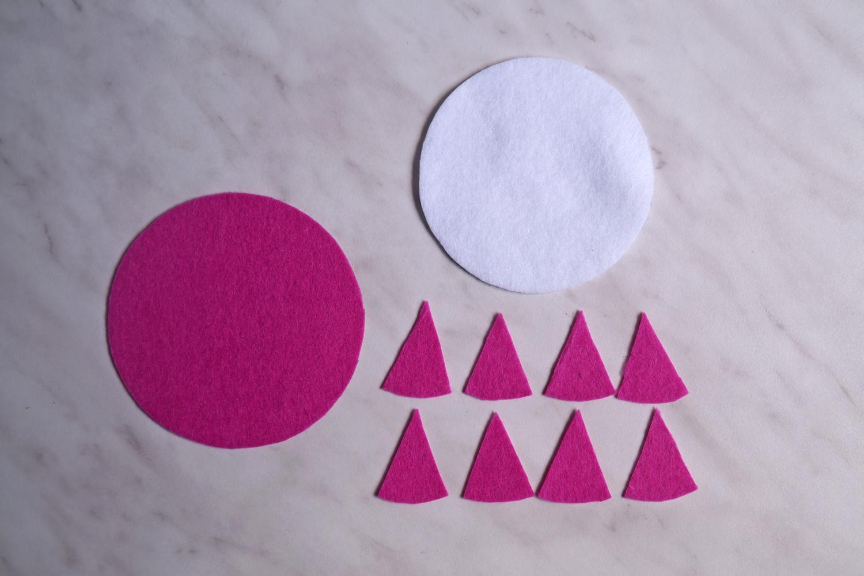 DIY Cytrusowe podstawki z filcu