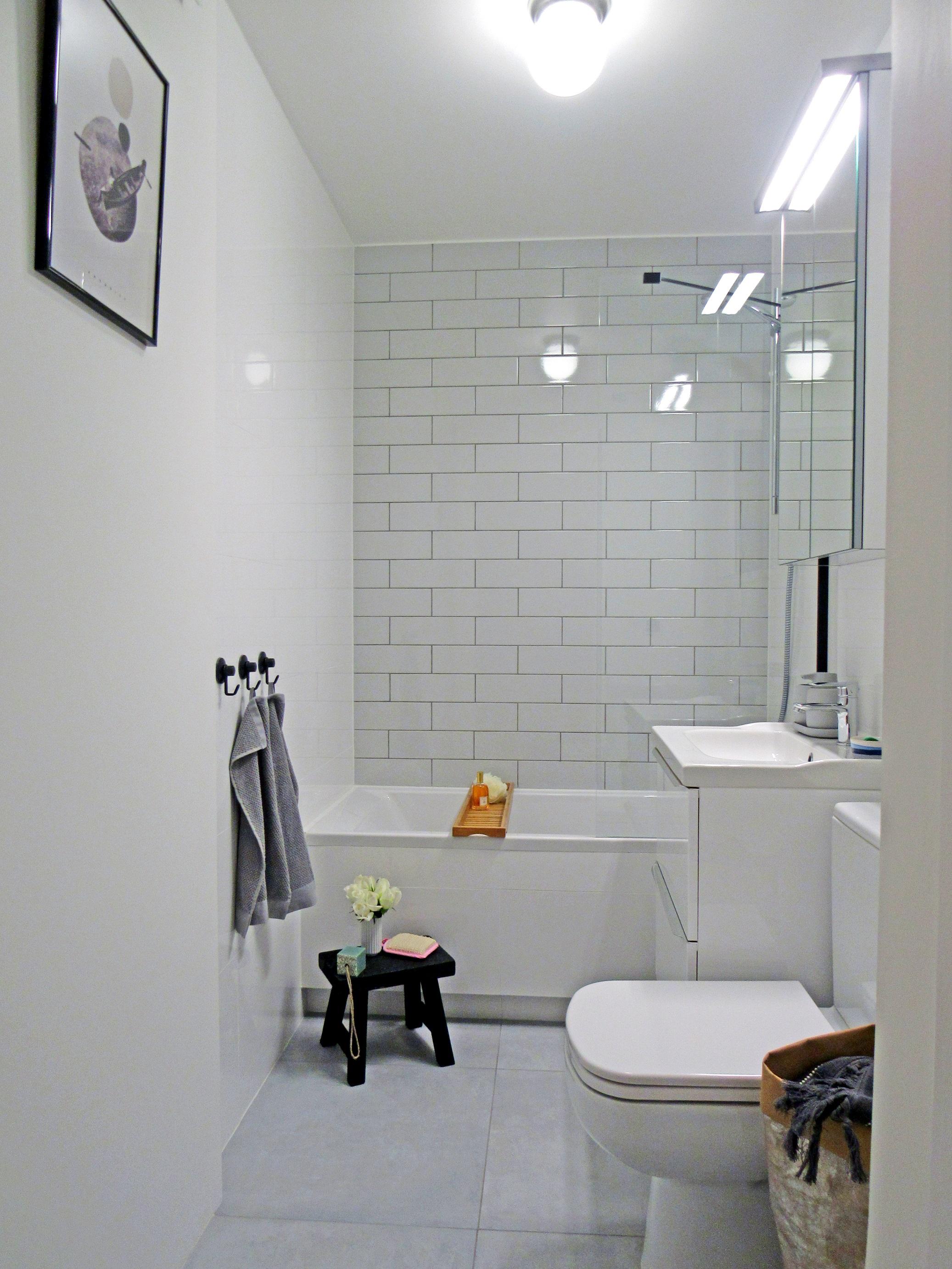 Metamorfoza małej łazienki w bloku - zdjęcia przed i po