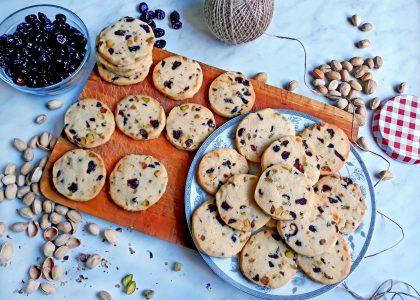 Świąteczne ciasteczka Carnberry Noel wg przepisu Marthy Stewart