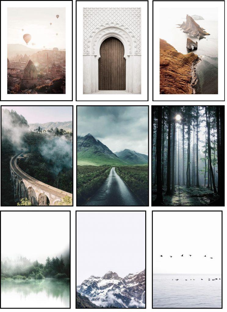 Skandynawskie plakaty do wnętrz. Mój wybór plakatów do salonu