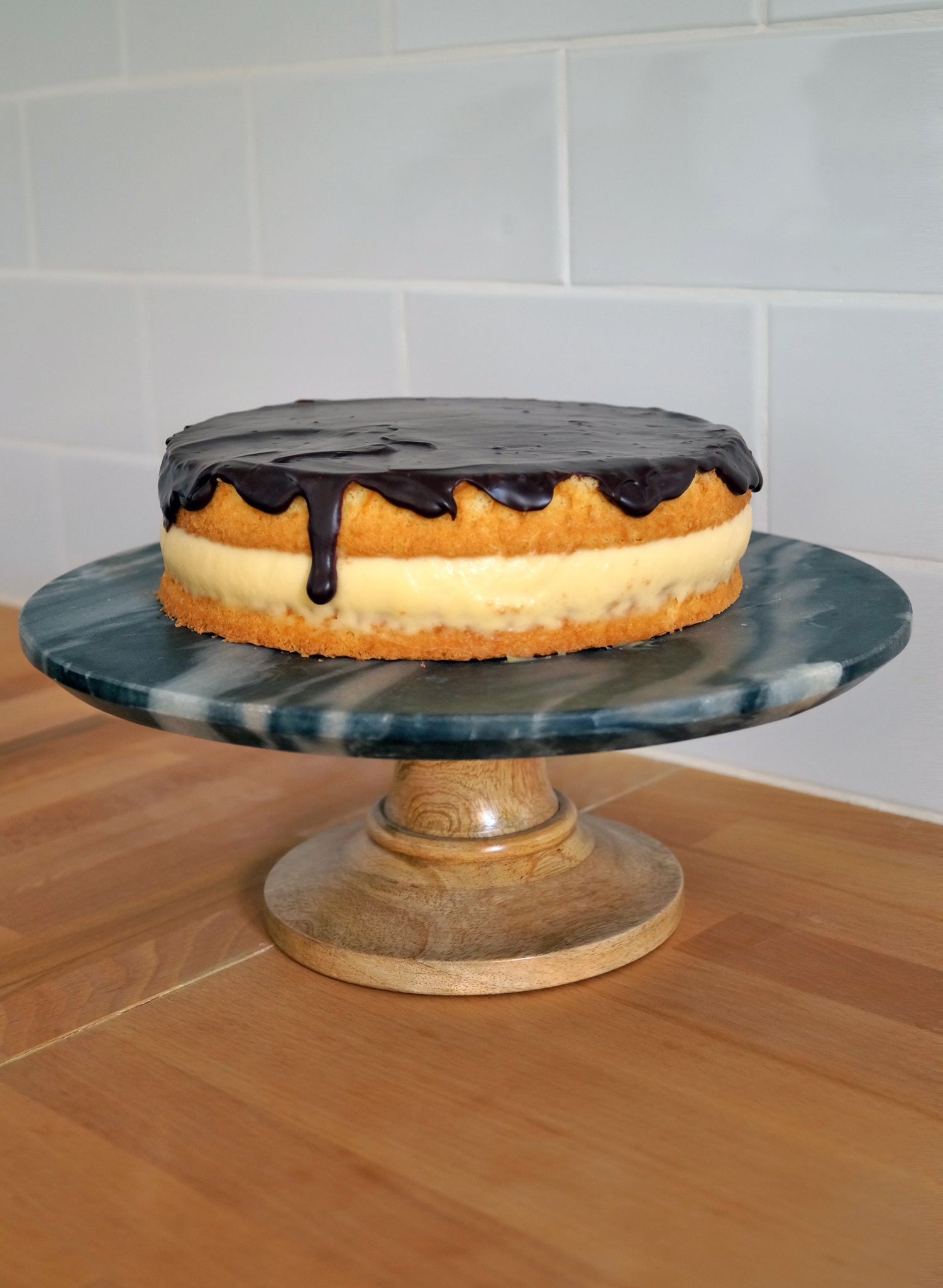 Boston Cream Pie - przepis na ciasto z Bostonu